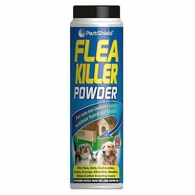 1 x PestShield Flea Killer Powder Crawling Insect Killer Indoor & Outdoor 200g